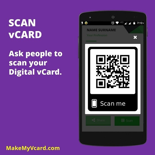 Digital business card features make my vcard business card qr code reheart