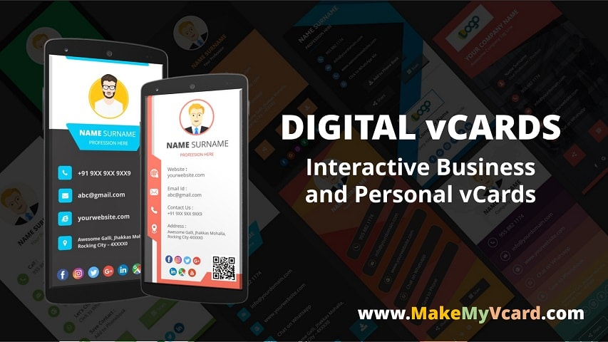 Digital vcard and digital business card maker app make my vcard colourmoves