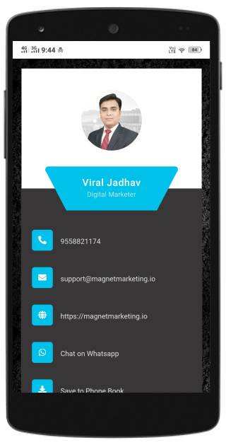 whatsapp share business card