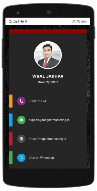 stylish digital business card