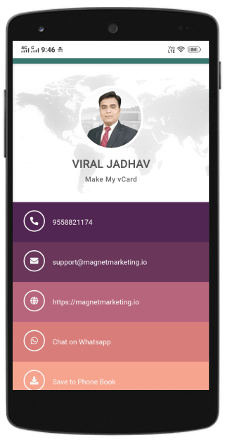 how to create free digital business card